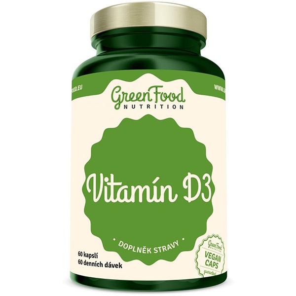 GreenFood Nutrition Vitamin D3 60 kapslí