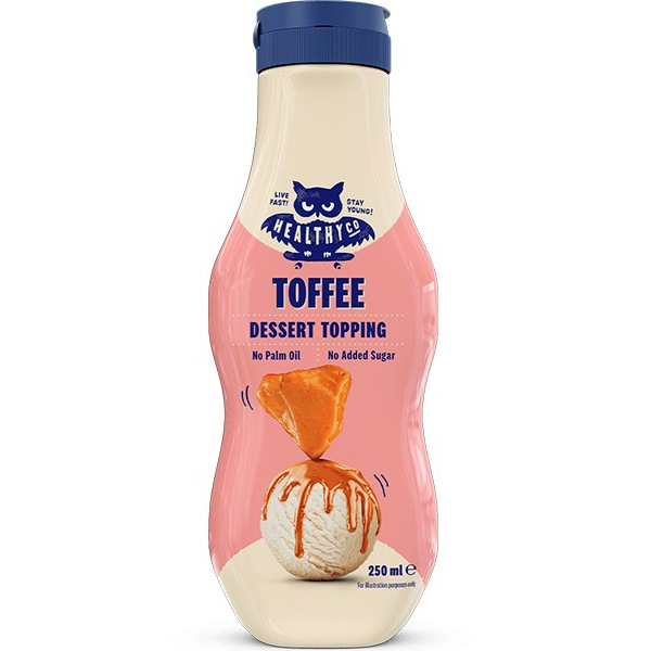 HealthyCo Dessert Topping 250ml toffee