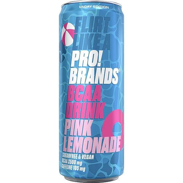 PRO!BRANDS BCAA Drink 330ml pink lemonade