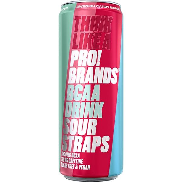 PRO!BRANDS BCAA Drink 330ml kyselá malina