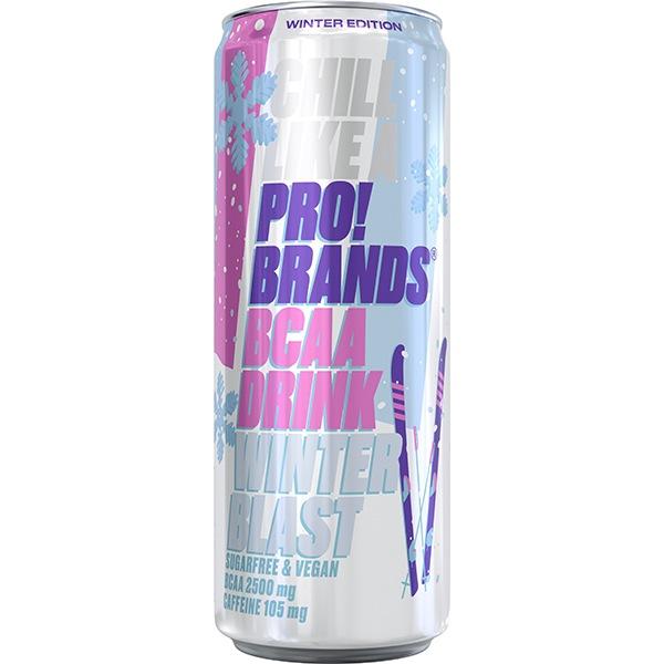 PRO!BRANDS BCAA Drink 330ml WINTER BLAST jahoda/malina