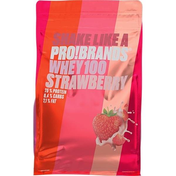 PRO!BRANDS 100% Whey Protein 900g příchuť: jahoda