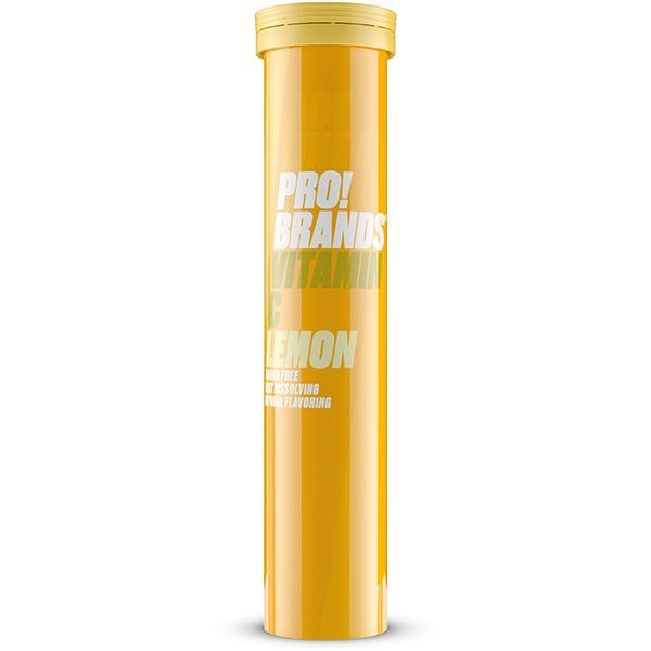 PRO!BRANDS Vitamin C 1000mg - 20 šumivých tbl. příchuť: citron